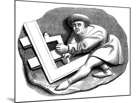 A Carpenter's Apprentice Working at a Trial Piece, 15th Century--Mounted Giclee Print