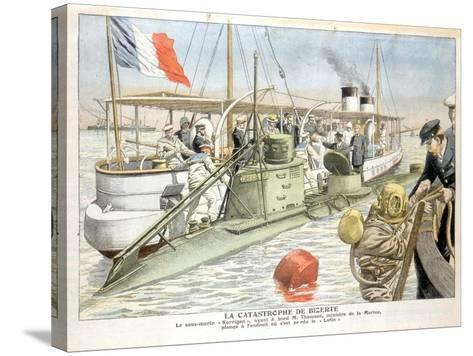 Korrigan, French Navy Submarine, 1906--Stretched Canvas Print