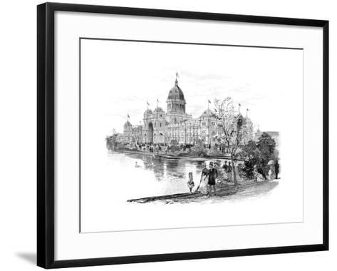 Melbourne Exhibition Building, Victoria, Australia, 1886--Framed Art Print