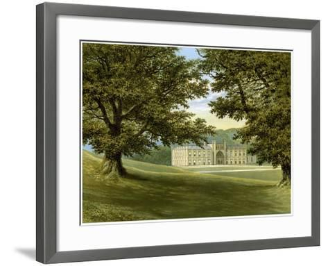Donington Castle, Leicestershire, Home of the Abney-Hastings Family, C1880-AF Lydon-Framed Art Print