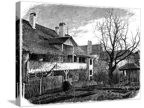 Birthplace of the Glaciologist Louis Agassiz, Motiers, Switzerland, 1885--Stretched Canvas Print