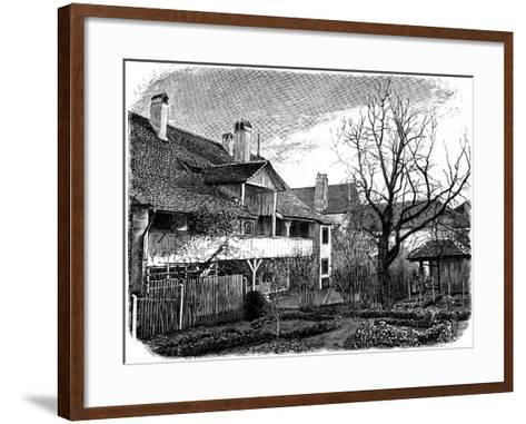 Birthplace of the Glaciologist Louis Agassiz, Motiers, Switzerland, 1885--Framed Art Print