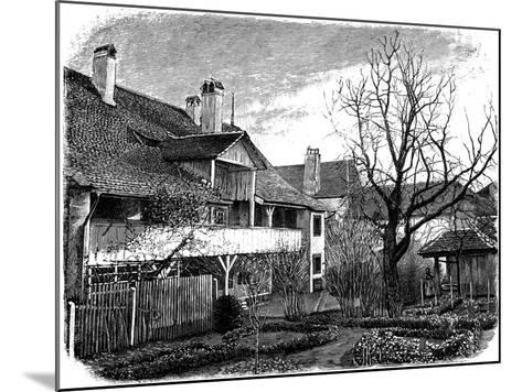Birthplace of the Glaciologist Louis Agassiz, Motiers, Switzerland, 1885--Mounted Giclee Print