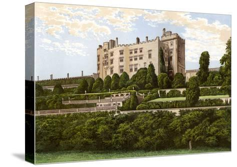 Powis Castle, Powys, Wales, Home of the Earl of Powys, C1880-Benjamin Fawcett-Stretched Canvas Print
