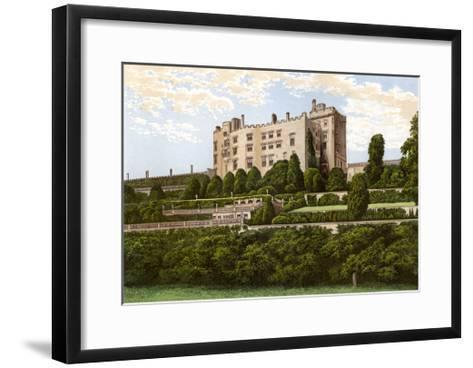 Powis Castle, Powys, Wales, Home of the Earl of Powys, C1880-Benjamin Fawcett-Framed Art Print