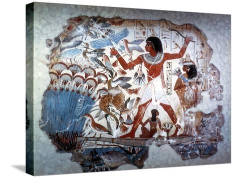 Ancient Egyptian Hunting Wildfowl with a Throwing Stick, C1350 BC--Stretched Canvas Print