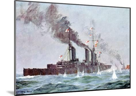 Battlecruiser HMS Lion Coming into Action, Battle of Jutland 31 May - 1 June 1916--Mounted Giclee Print