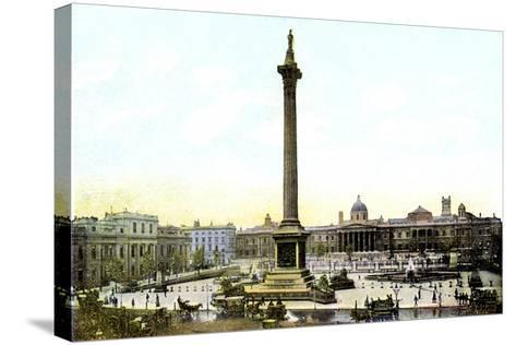 Trafalgar Square and Nelson's Column, London, 20th Century--Stretched Canvas Print
