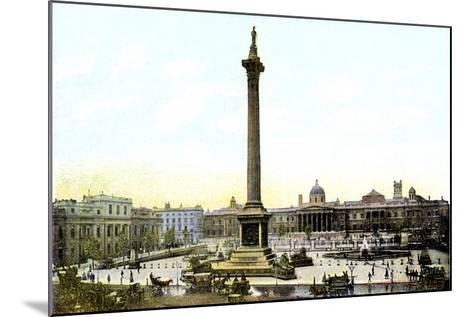 Trafalgar Square and Nelson's Column, London, 20th Century--Mounted Giclee Print