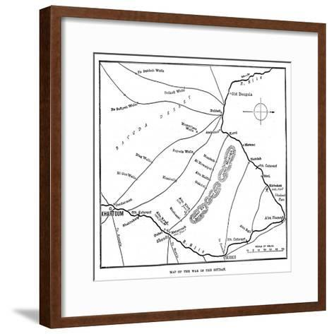 Map of the War in the Soudan, Late 19th Century--Framed Art Print