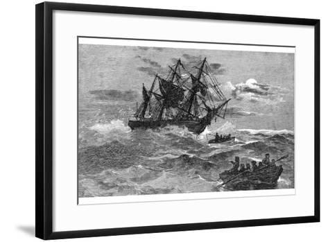 The 'Endeavour' on the Reef, Australia, 1770--Framed Art Print