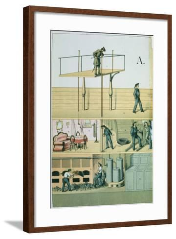 Communicating by Speaking Tube, 1882--Framed Art Print
