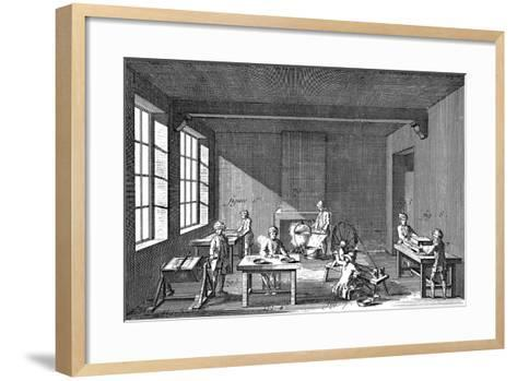 Needle-Making, 1751-1780--Framed Art Print