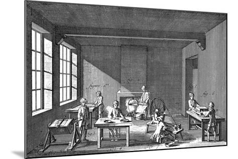 Needle-Making, 1751-1780--Mounted Giclee Print
