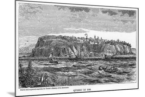 Quebec in 1640--Mounted Giclee Print