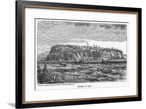 Quebec in 1640--Framed Art Print