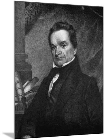 Edward Livingston, American Jurist and Statesman, 19th Century--Mounted Giclee Print