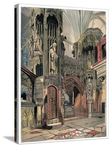 Shrine of Henry V, Westminster Abbey, London, C1850--Stretched Canvas Print