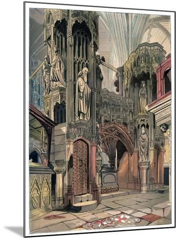 Shrine of Henry V, Westminster Abbey, London, C1850--Mounted Giclee Print