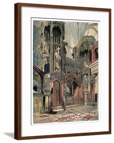 Shrine of Henry V, Westminster Abbey, London, C1850--Framed Art Print