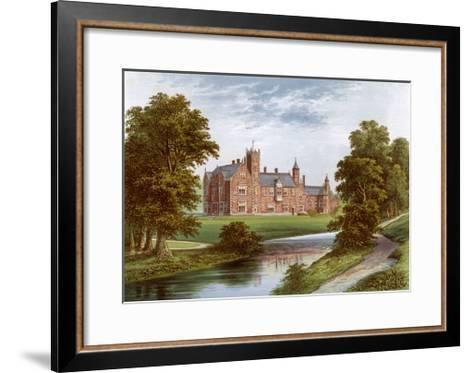 Thicket Priory, York, Home of the Dunnington-Jefferson Family, C1880-Benjamin Fawcett-Framed Art Print