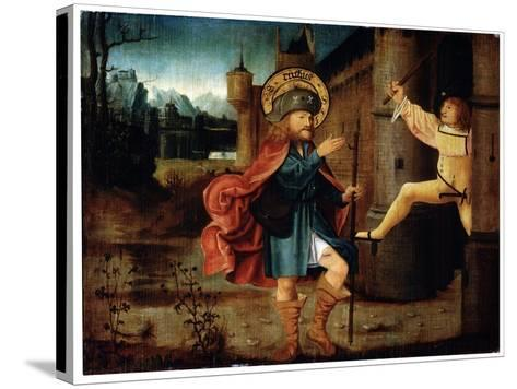 The Expulsion of Saint Roch from Rome, Late 15th Century--Stretched Canvas Print