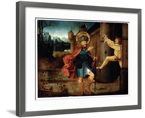 The Expulsion of Saint Roch from Rome, Late 15th Century--Framed Art Print