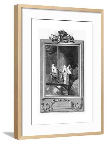 Empress Matilda Escaping from the Besieged Oxford Castle, 1142--Framed Art Print