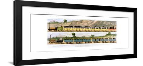 Travelling on the Liverpool and Manchester Railway, 1831--Framed Art Print