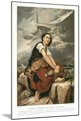 Joan of Arc, the Maid of Orleans, 15th Century French Patriot and Martyr, Mid 19th Century-Francois Leon Benouville-Mounted Giclee Print