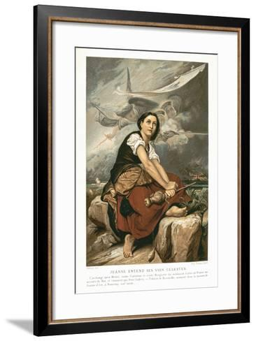 Joan of Arc, the Maid of Orleans, 15th Century French Patriot and Martyr, Mid 19th Century-Francois Leon Benouville-Framed Art Print