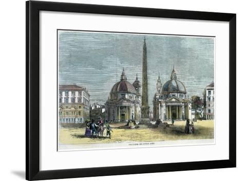 The Piazza Del Popolo, Rome, Italy, C1880--Framed Art Print