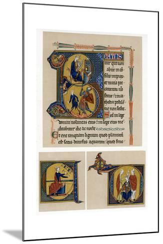 King David, Mid-13th Century--Mounted Giclee Print