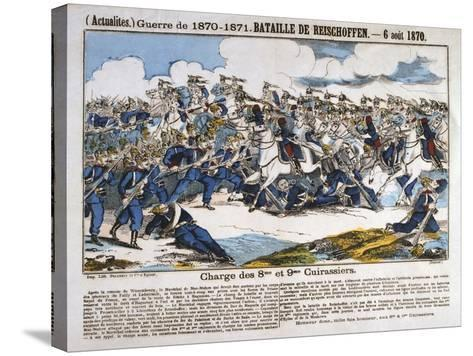 Battle of Reichshoffen, Franco-Prussian War, 6th August 1870--Stretched Canvas Print