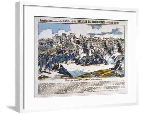 Battle of Reichshoffen, Franco-Prussian War, 6th August 1870--Framed Art Print