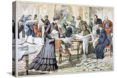 Workroom in the Winter Palace, St Petersburg, 1904--Stretched Canvas Print