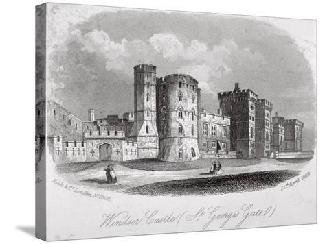St George's Gate, Windsor Castle, Berkshire, 1860--Stretched Canvas Print