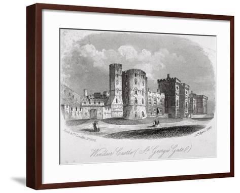 St George's Gate, Windsor Castle, Berkshire, 1860--Framed Art Print