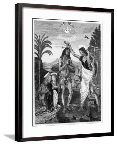 The Baptism of Christ, 1472-1475-Andrea del Verrocchio-Framed Art Print