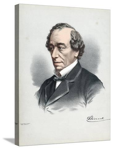 Benjamin Disraeli, 1st Earl of Beaconsfield (1804-188), British Conservative Statesman, C1880-Petter & Galpin Cassell-Stretched Canvas Print