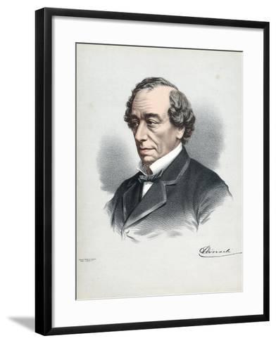 Benjamin Disraeli, 1st Earl of Beaconsfield (1804-188), British Conservative Statesman, C1880-Petter & Galpin Cassell-Framed Art Print