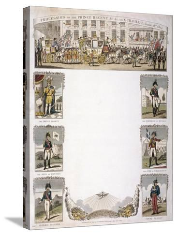 Procession of the Prince Regent, 1814--Stretched Canvas Print