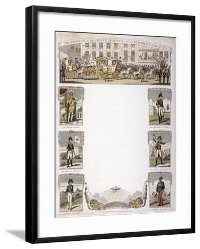 Procession of the Prince Regent, 1814--Framed Art Print