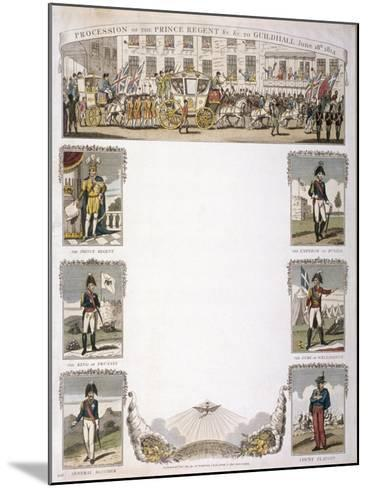 Procession of the Prince Regent, 1814--Mounted Giclee Print