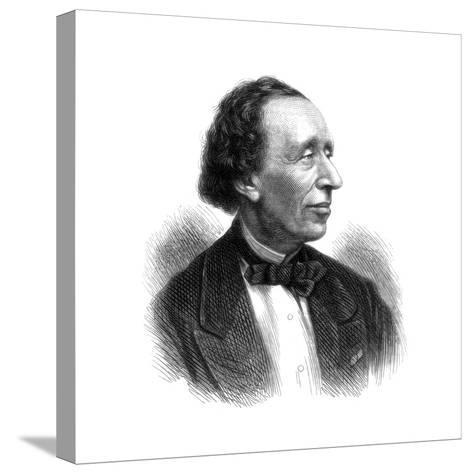 Hans Christian Andersen, Danish Poet and Author of Fairy Tales, 1875--Stretched Canvas Print
