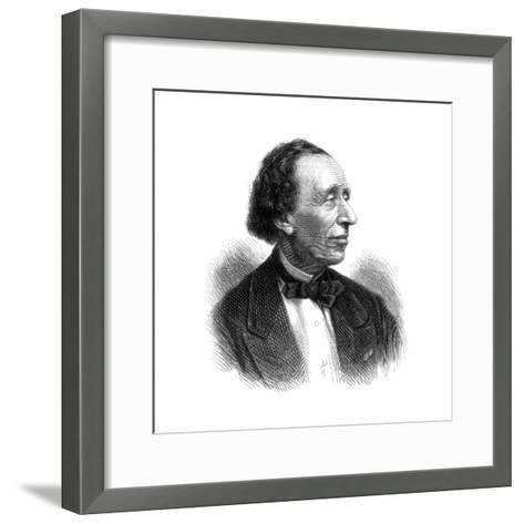 Hans Christian Andersen, Danish Poet and Author of Fairy Tales, 1875--Framed Art Print