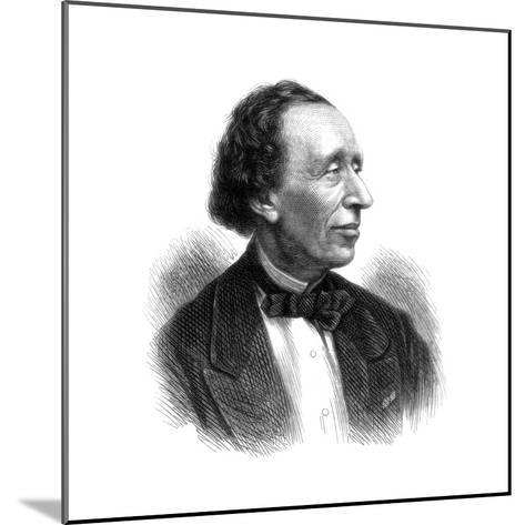 Hans Christian Andersen, Danish Poet and Author of Fairy Tales, 1875--Mounted Giclee Print