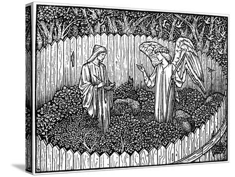Illustration from the Kelmscott Press Edition of the Works of Geoffrey Chaucer, 1896-Edward Burne-Jones-Stretched Canvas Print
