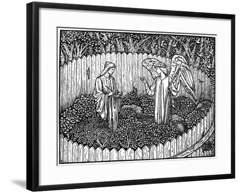 Illustration from the Kelmscott Press Edition of the Works of Geoffrey Chaucer, 1896-Edward Burne-Jones-Framed Art Print