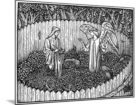 Illustration from the Kelmscott Press Edition of the Works of Geoffrey Chaucer, 1896-Edward Burne-Jones-Mounted Giclee Print